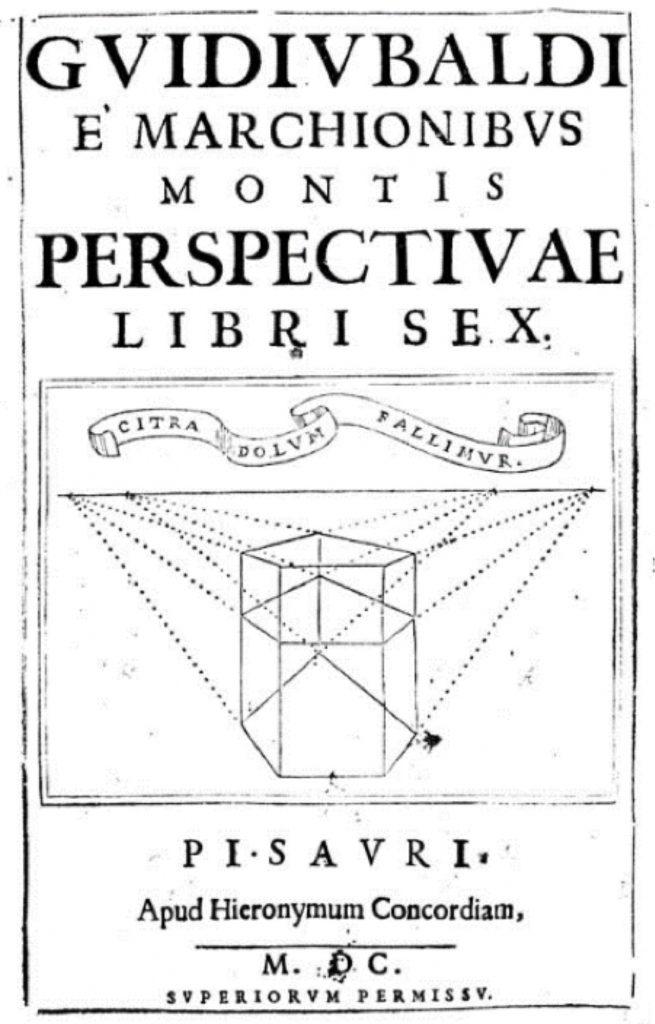 Figura 4 il Perpectivae libri sex di Guidobaldo del Monte